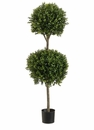 4' Artificial Double Ball-Shaped Boxwood�Topiary in Plastic Pot