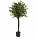 4� Olive Topiary Silk Tree