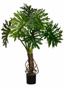 4' Outdoor Artificial Plume Split Leaf Tree with 6 Leaves (rubberized fabric)