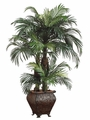 4' Silk Phoenix Palm Tree in Resin Container