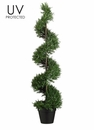 4' UV Protected Plastic Rosemary Spiral Artificial Topiary in Pot - Set of 2
