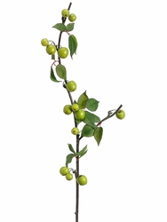 "40"" Artificial Crab Apple Spray Branch - Set of 12 (shown in green)"