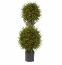 40� Cedar Double Ball Topiary w/Lights