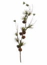 "42"" Artificial Pine Cone Spray Stem - Set of 6"