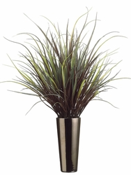 "43""  Yucca Grass Artificial Plant in Tall Ceramic Vase"