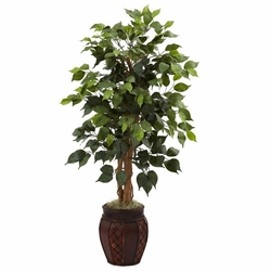 44� Ficus Tree w/Decorative Planter
