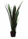 "Set of 2 - 44"" Sanseveria Artificial Plants in Plastic Pot"