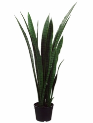"Set of 2 - 44"" Sansevieria Artificial Plants in Plastic Pot"