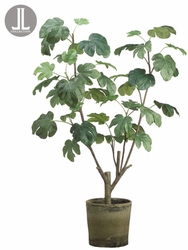 """48"""" Artificial Fig Plant Tree in Clay Container"""