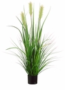 "48"" Artificial Foxtail Reed Grass Plant in Pot - Set of 4"