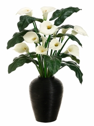 "48"" Artficial Calla Lily Flower Arrangement in Bamboo Container"