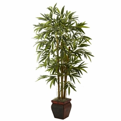 5.5� Bamboo w/Decorative Planter