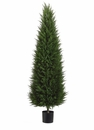 5' Artificial  Cone-Shaped Canadian Cypress Tree with 788 Leaves in Pot - Set of 2