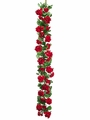 5' Artificial Geranium Flower Garland - Set of 2