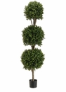 5' Artificial Triple Ball-Shaped Boxwood�Topiary Tree in Plastic Pot�