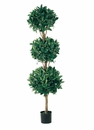 5' Artificial Triple Ball Sweet Bay Topiary - Potted