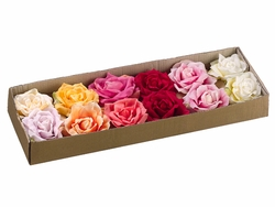 "5"" Floating Artificial Roses - Assorted Colors"