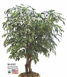 5' Outdoor Artificial Ficus Tree