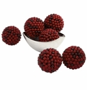 5� Red Berry Decorative Balls (Set of 6)