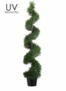 5' UV Protected Plastic Rosemary Spiral Artificial Tree in Pot