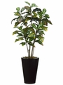 "50"" Artificial Croton Plant Tree in Metal Container"