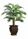 "50"" Artificial Hearts Palm Tree in Metal Container"