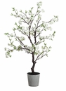 "51"" Artificial Cherry Blossom Tree Plant in Tin Pot"