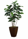 "52"" Artficial  Rubber Plant Tree in Metal Container"