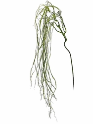 """52"""" Artificial Moss Weeping Willow Spray - Set of 12"""