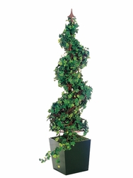 "53.25""  Artificial Spiral-Shaped Curly Ivy Plant in Wooden Designer Box"