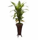 57� Dracaena with Decorative Stand Silk Plant (Real Touch)