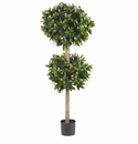 "57"" Sweet Bay Double Ball Topiary Silk Tree"