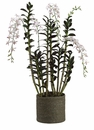 "59"" Artificial Ceasar Dendrobium Orchid Plant in Basket"