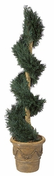 6' Artficial Juniper Spiral Topiary Outdoor UV Protected Plant