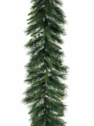 6' Artificial Augusta Pine Garland with 110 Pine Needle Branches - Set of 4
