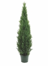 6' Artificial Cedar Topiary with 2,492 Leaves in pot Indoor / Outdoor