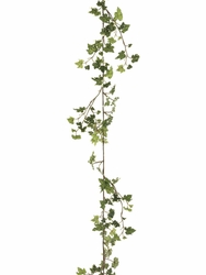 6' Artificial Lace Silk Ivy Garland - Set of 12 (shown in variagated green)