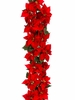 6' Artificial New Majestic Velvet Poinsettia Garland - Set of 2