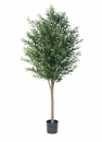 6' Artificial Olive Tree with 3,200 Leaves & Real Wood Trunk