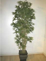 6' BAMBOO SILK TREE IN METAL CONTAINER