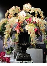 "60"" Artificial Phalaenopsis Orchid/Lily/Cymbidium Orchid/Tulip in Urn"