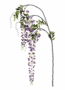 "62.5"" Artficial Japanese  Silk Wisteria Spray Stem - Set of 6"