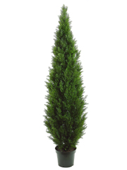 7' Artificial Cedar Topiary Tree  in Pot Indoor / Outdoor
