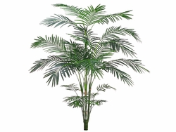 7' Artificial Tropical Areca Palm Tree x 5 w/ 861 Leaves