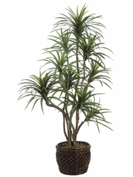 7' ARTIFICIAL YUCCA TREE X 9 STALKS IN PLANTER