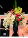"72"" Artificial Orchid, Silk Roses, Hydrangea and Daisy Arangement in Urn"