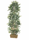 72 inch Silk Eucalyptus Wall Tree in Wooden Container