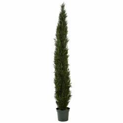 "8' Mini Cedar Pine Tree w/4249 tips in 12"" Pot (Two Tone Green)"