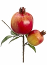"9"" Artificial Pomegranate Pick Stem - Set of 12"