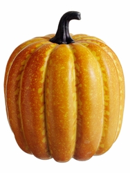 "9"" Artificial Weighted Pumpkin  - Set of 6 (shown in yellow)"